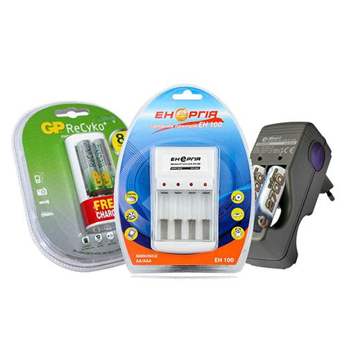 Зарядные устройства Энергия и GP
